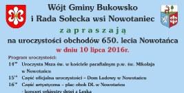 GMINA BUKOWSKO: Uroczystości 650-lecia Nowotańca już w niedzielę